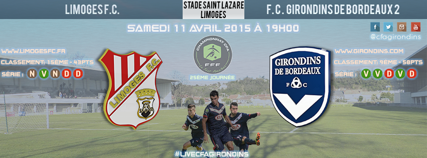 Cfa Girondins : [J25] En route pour Limoges - Formation Girondins
