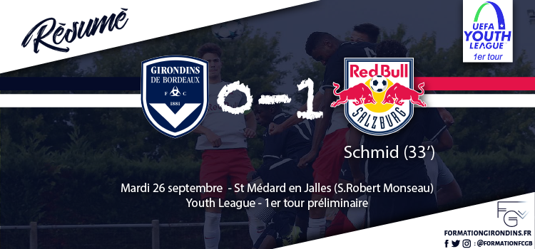 Cfa Girondins : Youth League : Le résumé de Bordeaux - Salzburg (0-1) - Formation Girondins